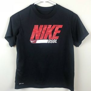 Nike BSBL Graphic Tee, black & red size S